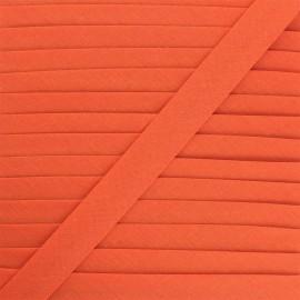 Biais tout textile 20 mm - capucine x 1m