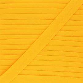 Biais tout textile 20 mm - jaune soleil x 1m