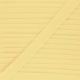 Biais tout textile 20 mm - vanille x 1m