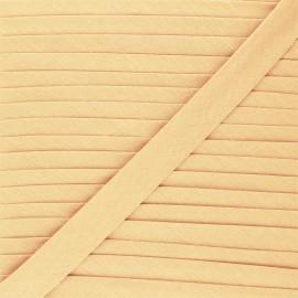 20 mm Poly Cotton Bias binding - eggshell x 1m