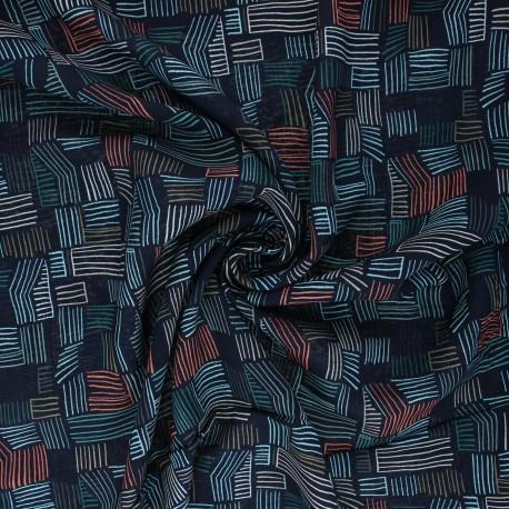 AGF Rayon fabric - Pollinate - Seedmap Dim x 10cm