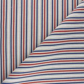 Tissu Toile polycoton aspect lin Raya - blanc x 10cm