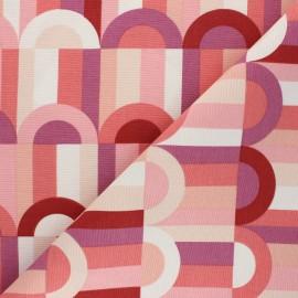 Tissu Toile polycoton Graphic art - rose x 10cm
