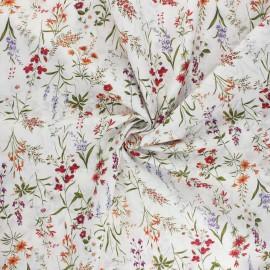 Kokka cotton poplin fabric - white Odelie x 10cm
