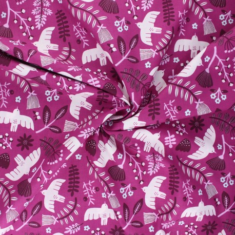 Tissu coton Cotton Steel Marbella - Free as a Bird - Gypsy Love x 10cm
