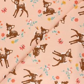 Tissu jersey Pitchoune - rose x 10cm
