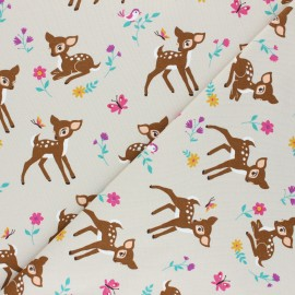 Printed Jersey fabric - grege Pitchoune x 10cm