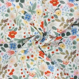 Rifle Paper Co. Cotton fabric - white Strawberry Fields A x 10cm