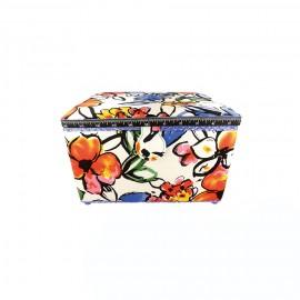 Large Size Sewing Box - Dessin fleuri