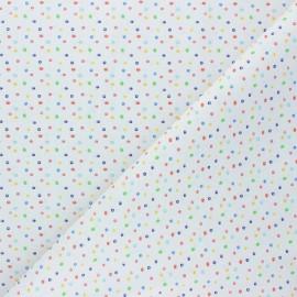 Cretonne Cotton fabric - white Marbles x 10cm