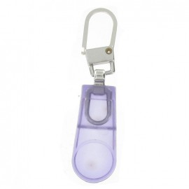 Plastic Zipper pull - purple