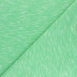 Tissu jersey flammé Olando  - vert pomme x 10cm