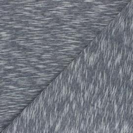 Tissu jersey flammé Olando  - gris foncé x 10cm