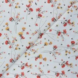Cretonne Cotton fabric - grey Fiorella x 10cm