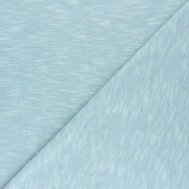 Tissu jersey flammé Olando  - bleu givré  x 10cm