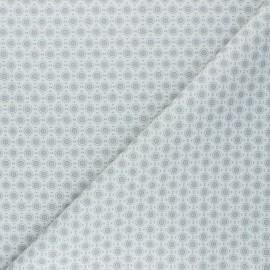 Cretonne Cotton fabric - grey Géoma x 10cm
