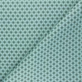 Cretonne Cotton fabric - aqua green Géoma x 10cm