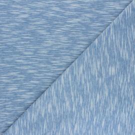 Tissu jersey flammé Olando  - bleu marine  x 10cm