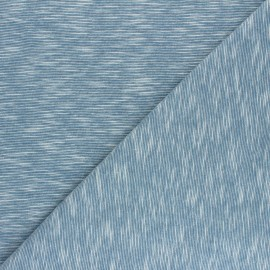 Tissu jersey flammé Olando  - bleu acier  x 10cm