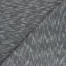 Tissu jersey flammé Olando  - noir x 10cm