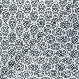 Tissu coton cretonne Catrina - blanc x 10cm