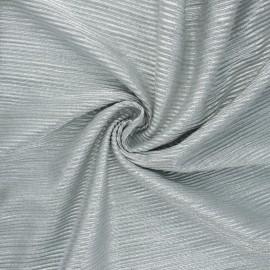 Tissu polyester plissé métallisé Mya - bleu givré x 10cm