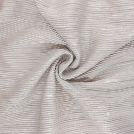 Metallic Pleated polyester fabric - light pink Mya x 10cm