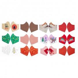Tissu panneau pour masque Christmas Holidays x 65cm