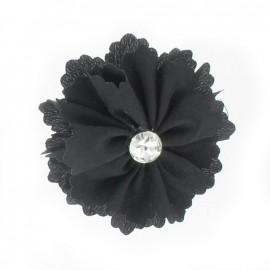 Medium Flower brooch - black