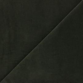 Tissu velours milleraies washé Infinité - kaki x 10cm