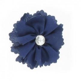 Medium Flower brooch - navy