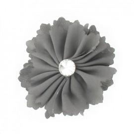♥ Broche Fleur moyenne gris ♥