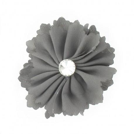 Broche Fleur moyenne gris