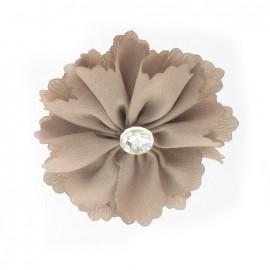 Medium Flower brooch - taupe
