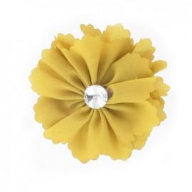 ♥ Broche Fleur moyenne moutarde ♥