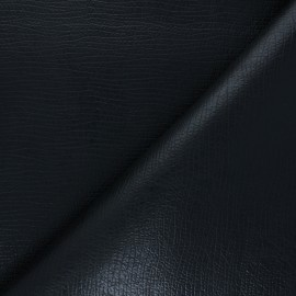 Leather Imitation fabric - black Tortosa x 10cm