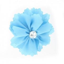 Medium Flower brooch - turquoise