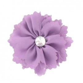 Medium Flower brooch - purple