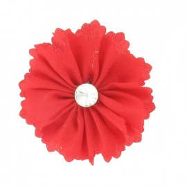 Broche Fleur moyenne rouge