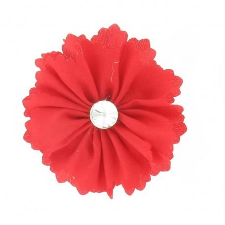 Medium Flower brooch - red