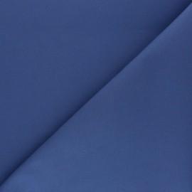 Matte elastane Gabardine fabric - blue x 10cm