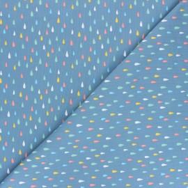 Stenzo jersey cotton fabric - blue Multicolor Drops x 10cm