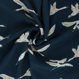 Viscose Fabric - duck blue Harmony x 10cm