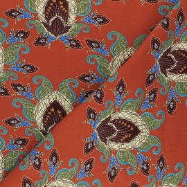 Stenzo jersey cotton fabric - rust Zoar x 10cm