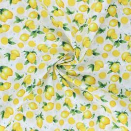 Tissu coton Timeless Treasures - Small Lemons - crème x 10cm