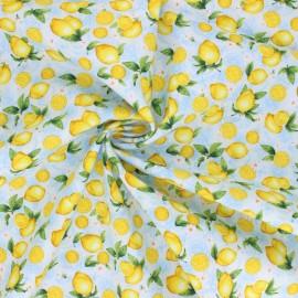 Tissu coton Timeless Treasures - Small Lemons - bleu ciel x 10cm
