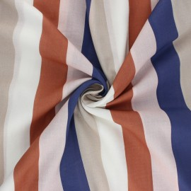 Tissu voile de coton Douces Rayures - blanc x 10cm