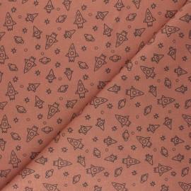 Tissu coton cretonne Houston - rouille x 10cm