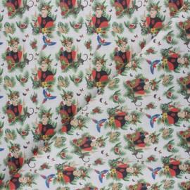 Cretonne Cotton fabric - light grey Painting Frida x 10cm