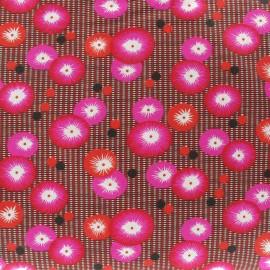 Fabric coton coquelicot rouge x 10cm